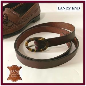 NWT Land's End Leather Belt